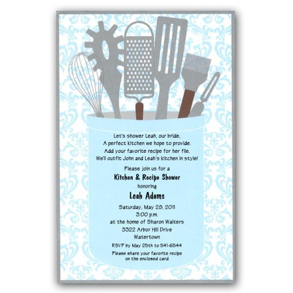 Kitchen Tea Decoration Ideas: Gleam Kitchen Shower Invitations