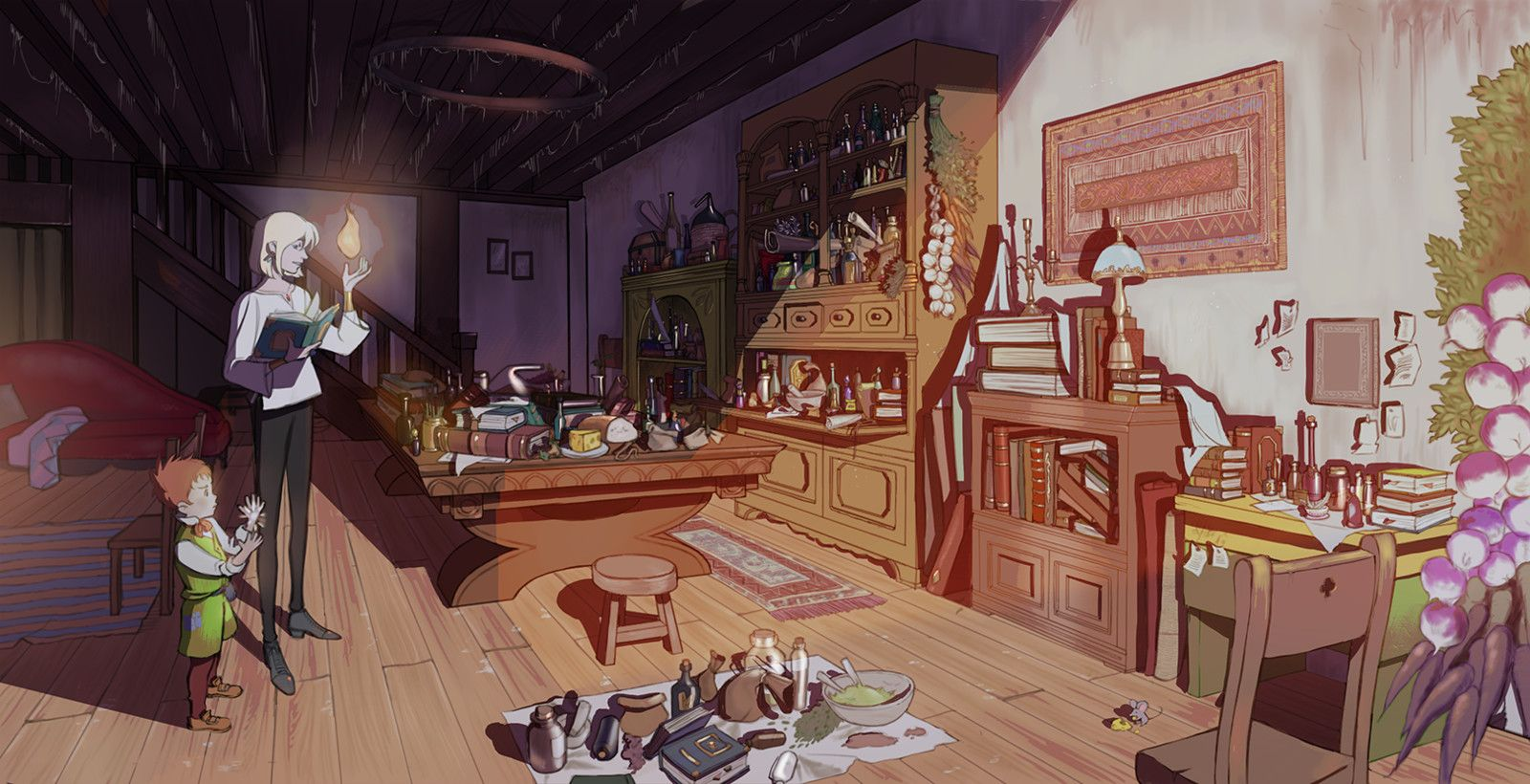 Howl's Moving Castle interior (Day & Night version ...
