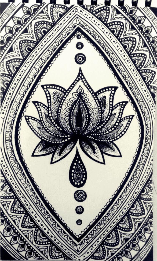 Pin de wessam hamdy en my doodle | Pinterest | Mandalas, Flor de ...