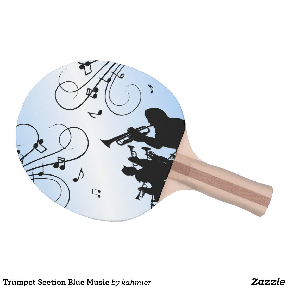 Trumpet Section Blue Music Ping Pong Paddle