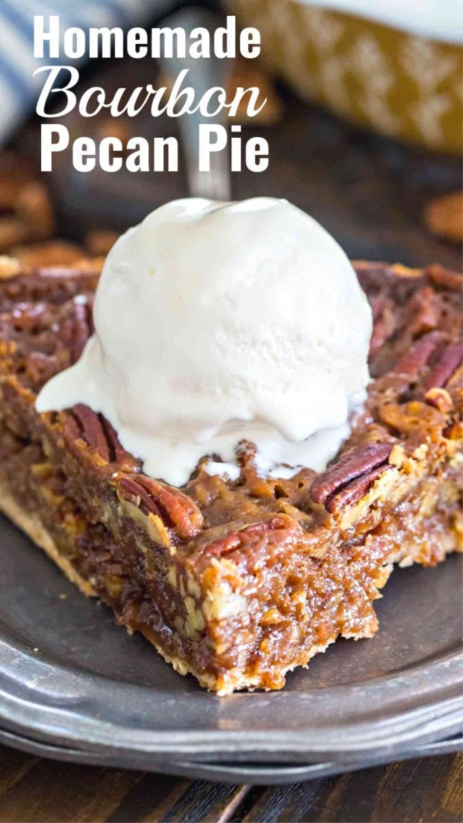 Homemade Bourbon Pecan Pie Homemade Bourbon Pecan Pie