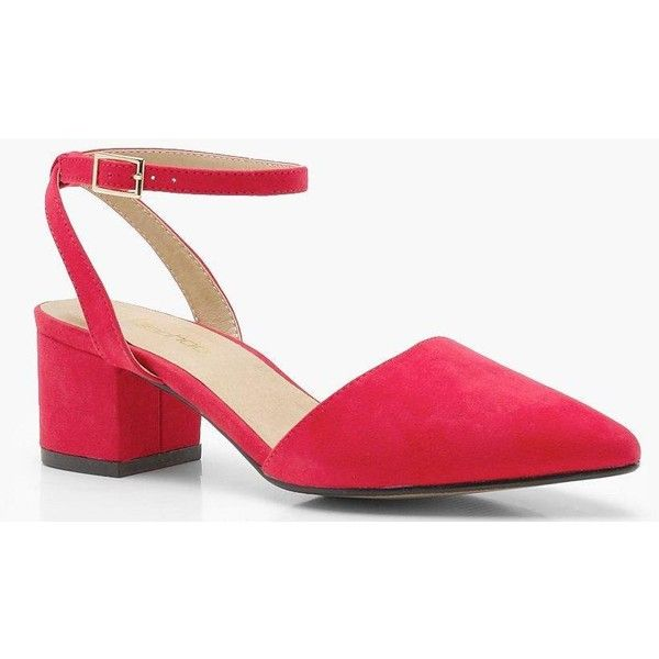 e1501304cf7 Boohoo Tia Wide Fit Wrap Pointed Block Heel Flats (1.670 RUB) ❤ liked on