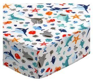 9e517887c47 SheetWorld Fitted Playard Sheet Fits BabyBjorn Travel Crib Light 24 x 42 -  Sharks - Made in USA Review