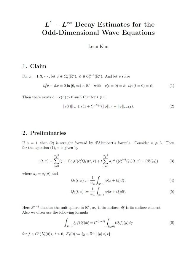 L^1-L^∞ Decay Estimates for the Odd-Dimensional Wave Equations
