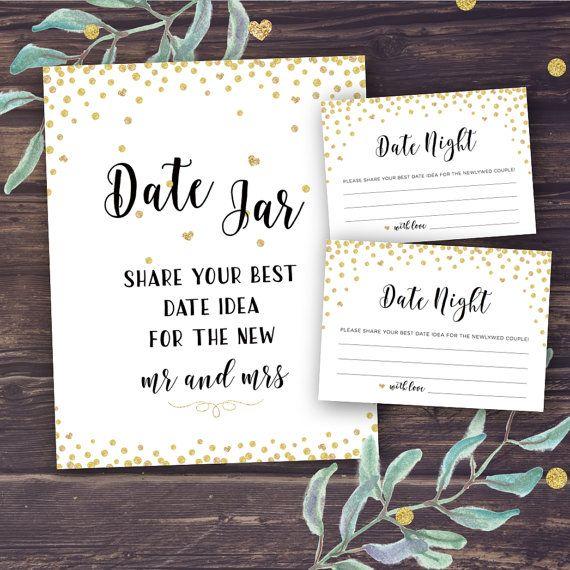 Alejandra Elegant Wedding Date Night Jar Cards Digital Download