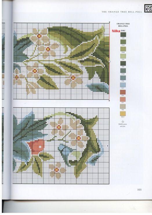 Gallery.ru / Фото #89 - The art of William Morris in cross stitch ...
