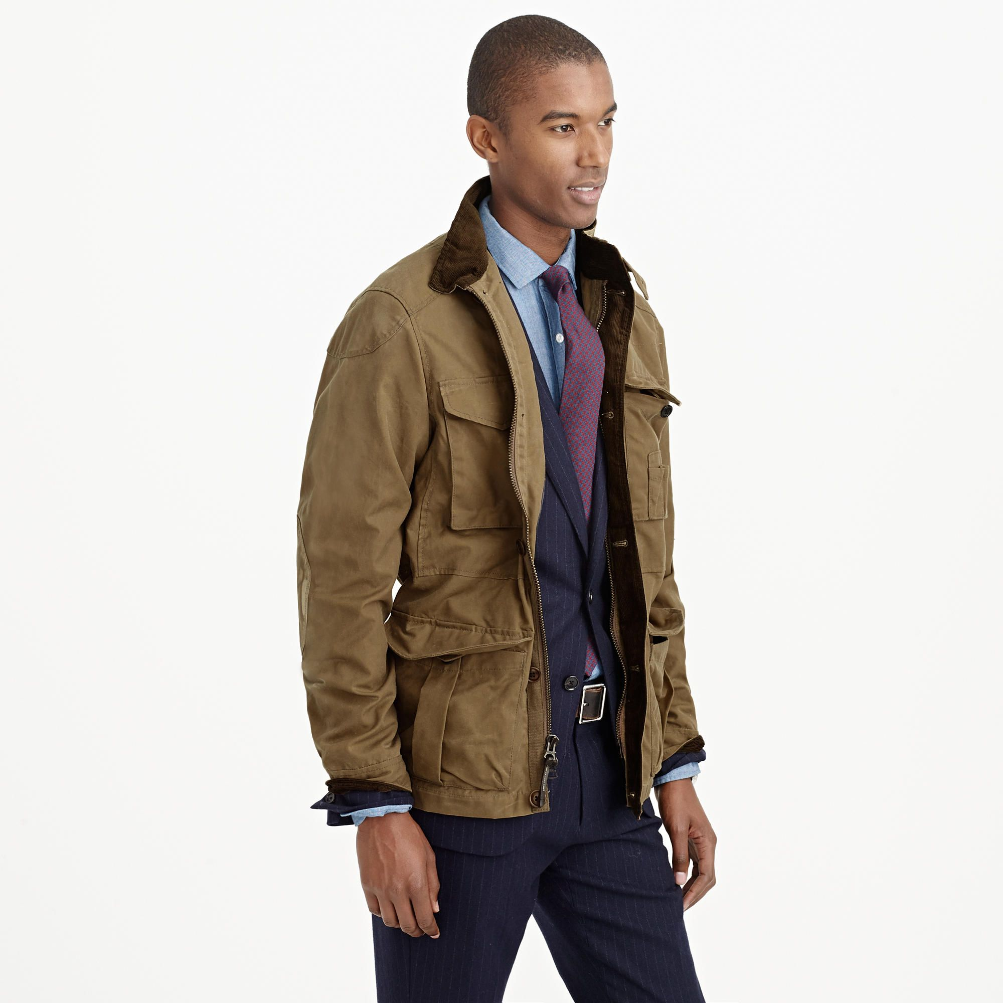 Barbour Classic Beadnell Waxed Cotton Jacket Olive Corduroy collar elevates waxed cotton jacket ysn 43321