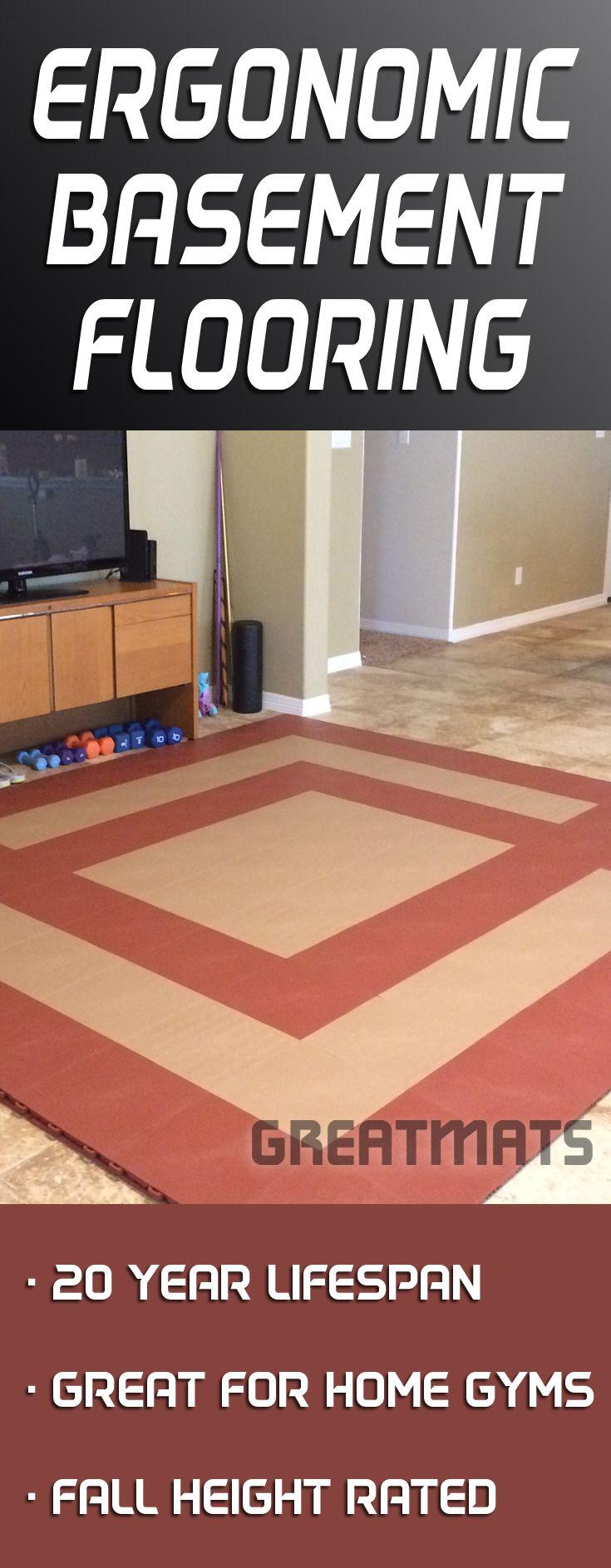 StayLock Tile Orange Peel Colors Basement flooring