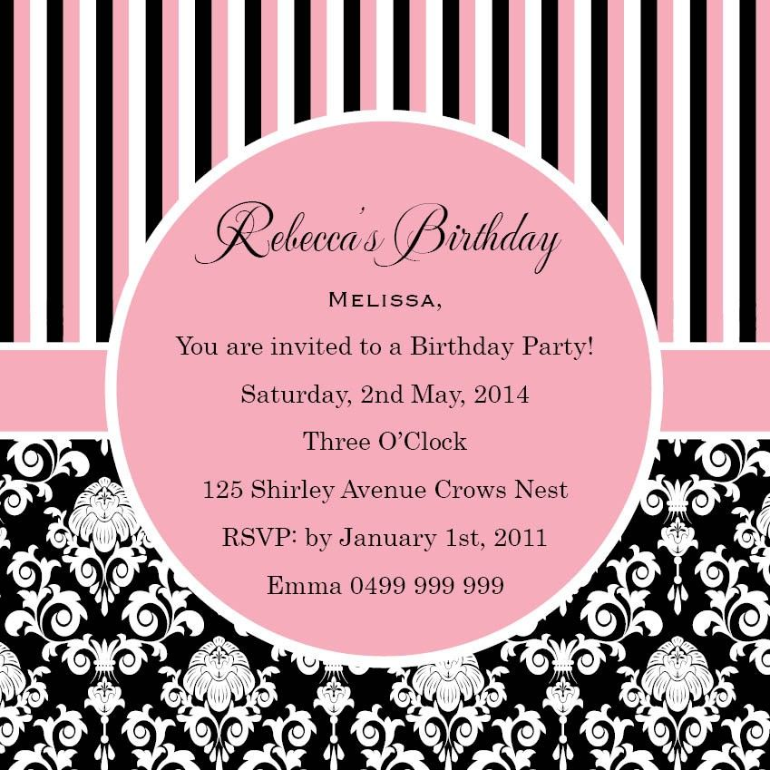 Birthday flourish square w magnet in pastel pink invitation 18 birthday invitation templates birthday party invitation wording wordings and messages birthday invitation maker and how to make your own invitation stopboris Choice Image