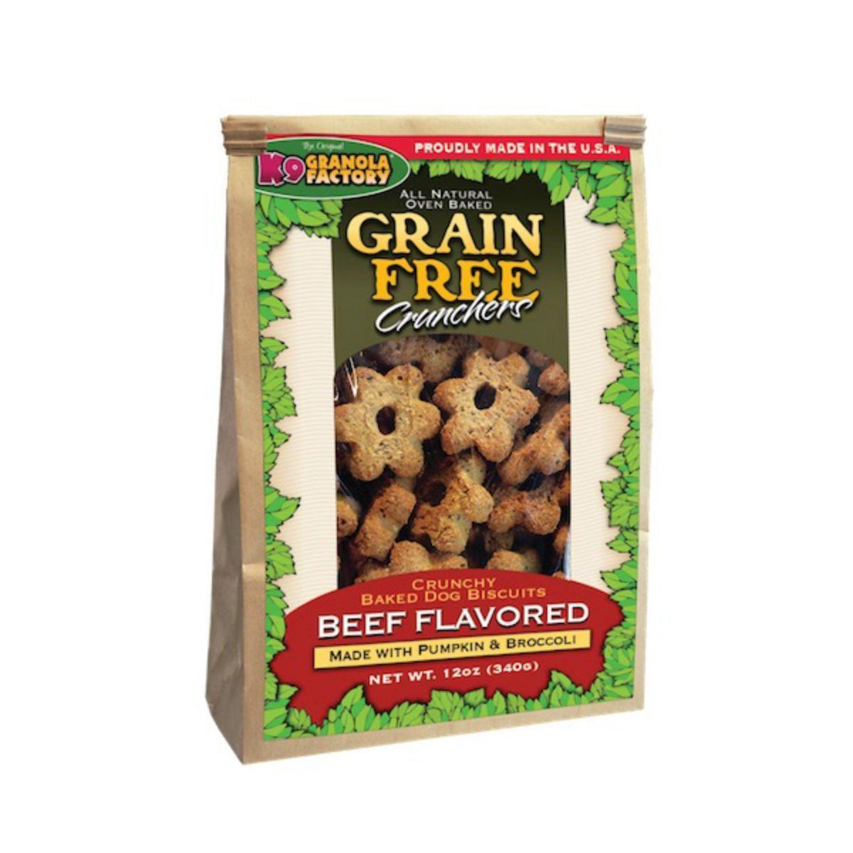 Grain free crunchers dog treat dried beef with pumpkin
