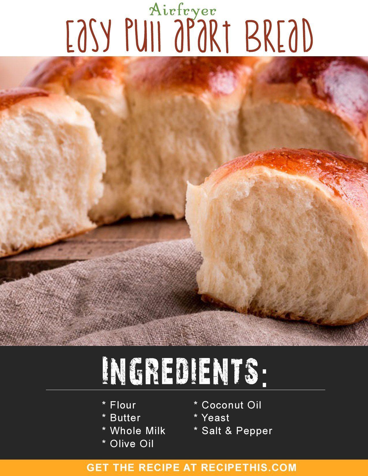 Air fryer pull apart bread rolls recipe food recipes