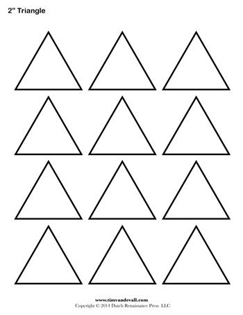 A printable triangle template sheet. | Cumple Antonio | Pinterest