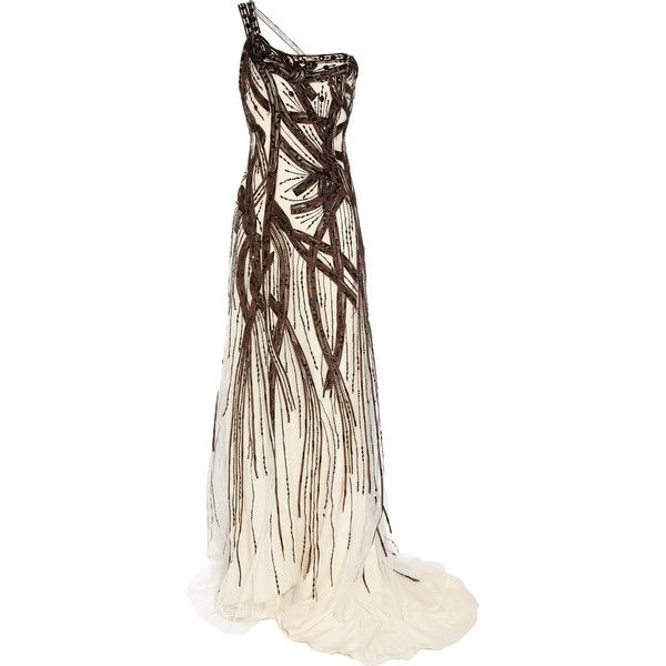 Carolina Herrera Beaded tulle-covered silk gown - 80% Off Now at THE... ($10,130) ❤ liked on Polyvore