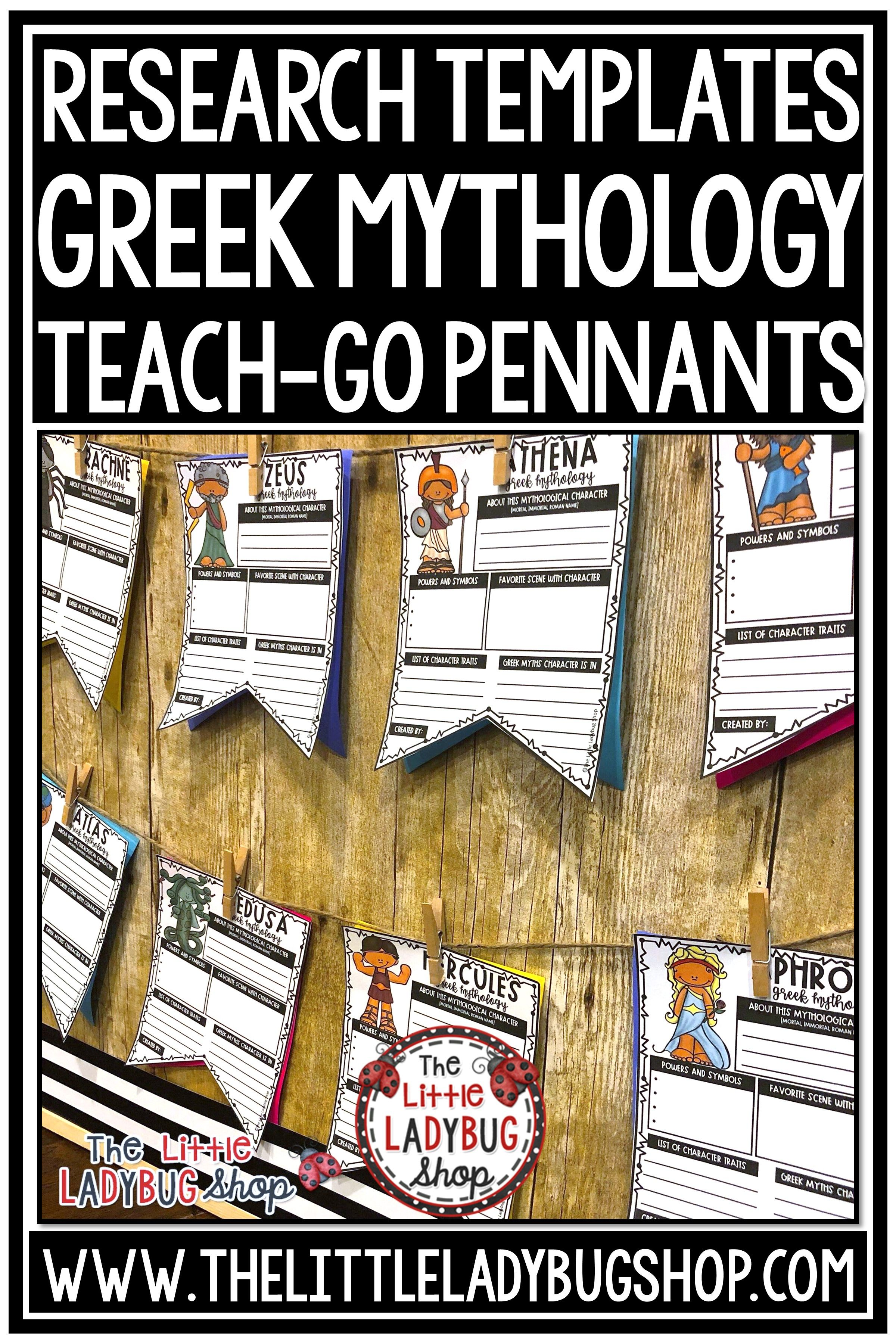 Ancient Greek Mythology Poster Research Project Amp Greek