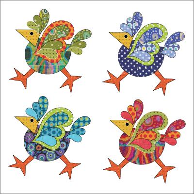 Urban Elementz: Funky Chicken - Set - Dotz - Lg Laser cut applique