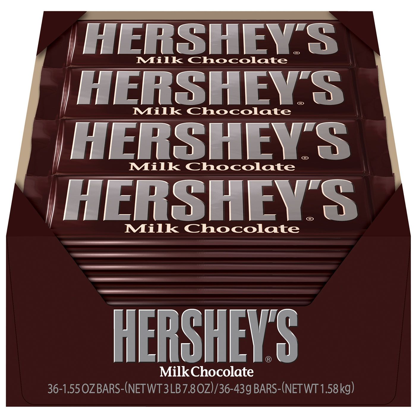 HERSHEY'S Milk Chocolate Bars - 36-ct. Box , All the deliciousness ...