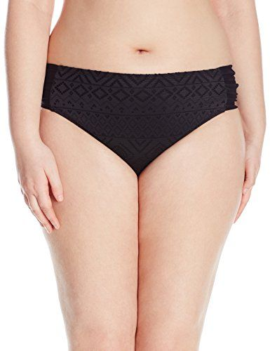 Introducing InMocean Womens Plus Size Allure Side Tab Bikini Bottom ... 8bdaf09aa343a
