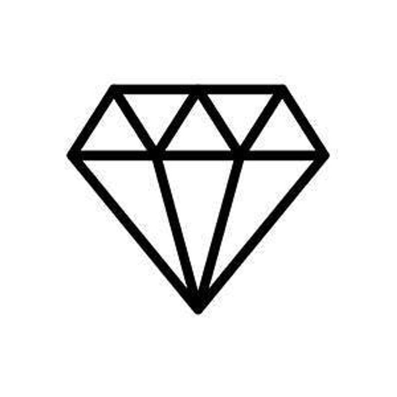 Simple Diamond Tattoo Etsy In 2020 Small Diamond Tattoo Diamond Tattoo Designs Diamond Tattoos