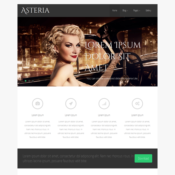 This free responsive business WordPress theme features a minimal ...