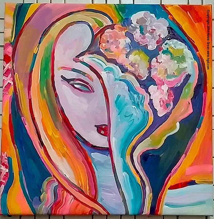 Layla album cover painting by Howie Green | by Howie Green