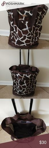 Olympia Giraffe Rolling Shopper/Carry On Good condition. This smooth rolling bag...#bag #condition #giraffe #good #olympia #rolling #shoppercarry #smooth