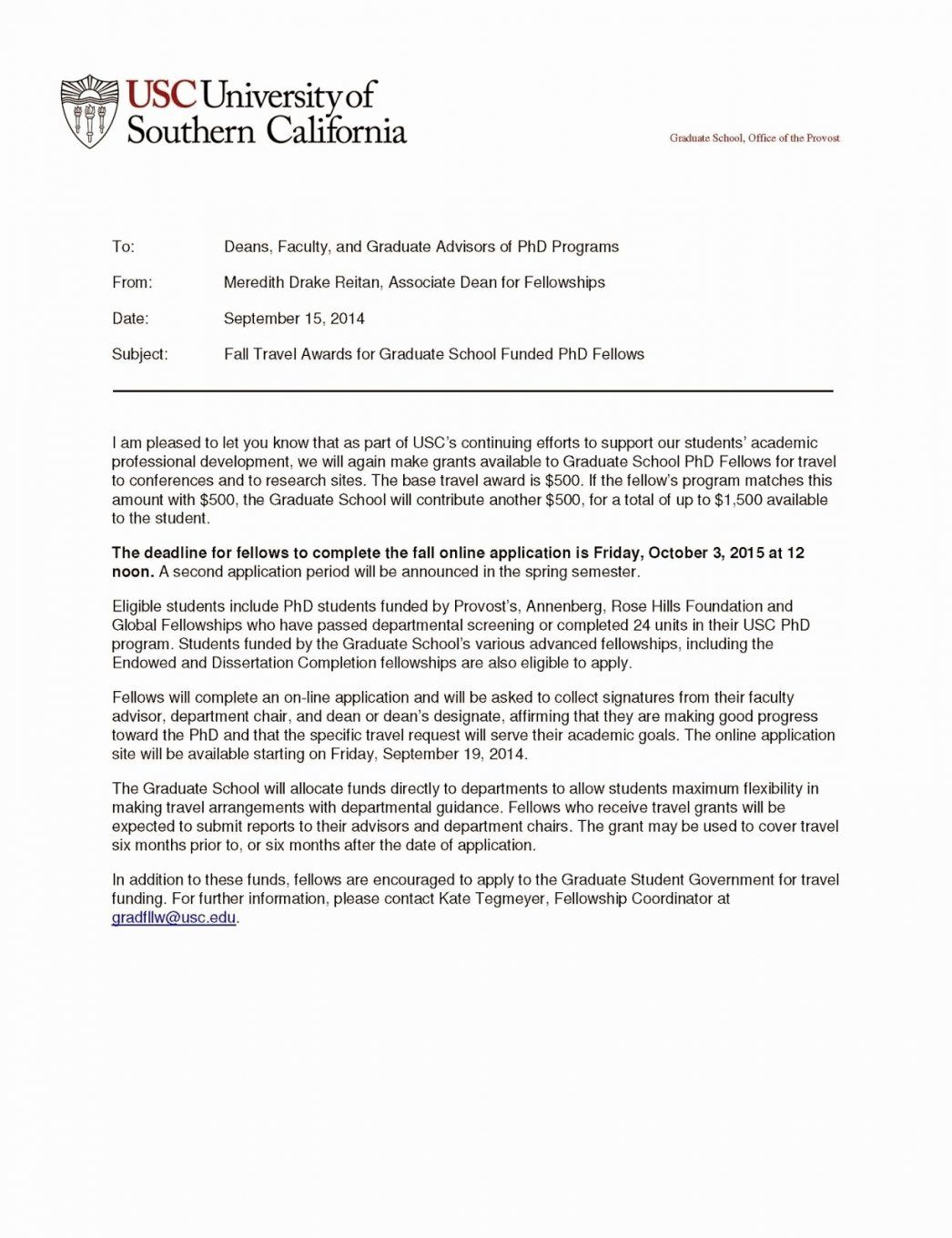 Cover Letter Template Usc English Cover Letter For