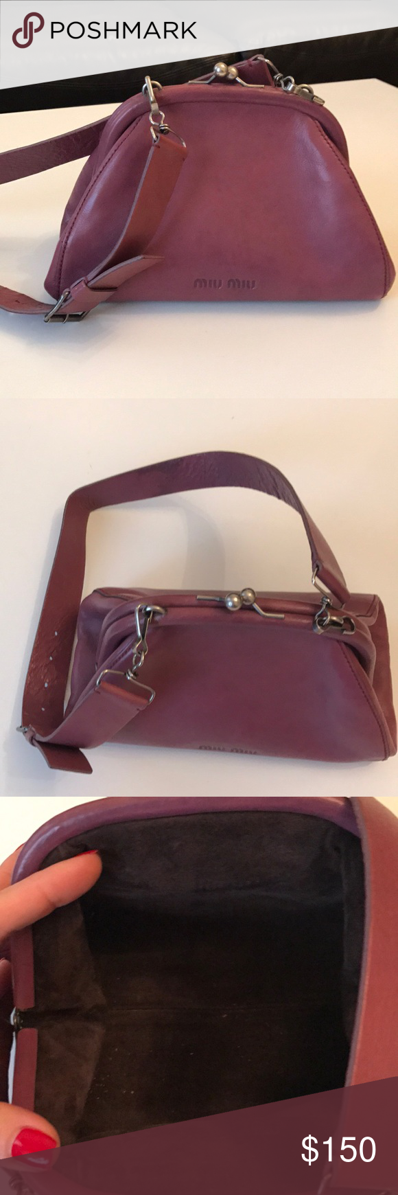 Miu miu bag Miu miu hand bag 100% authentic. 100 % leather. Very fea7f1a698