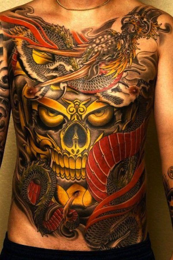 Traditional Japanese tattoo TattooModels Stomach