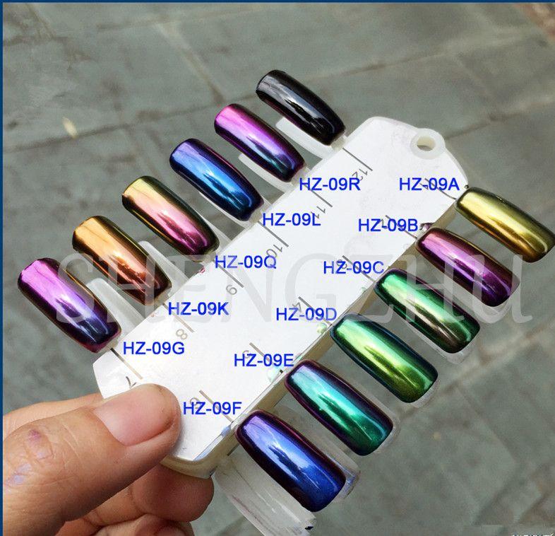 50g High Grade Chameleon Chrome Nails Powder Holographic Mirror Pigment Sequins Nail Art Glitter Gel Polish