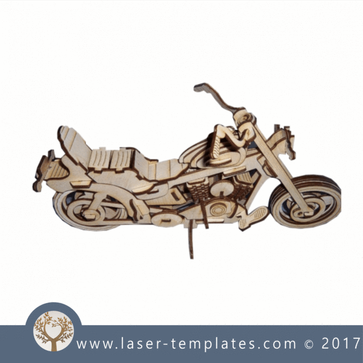 Bike 3D model | Laser Cutting | Vector design, Laser cutting
