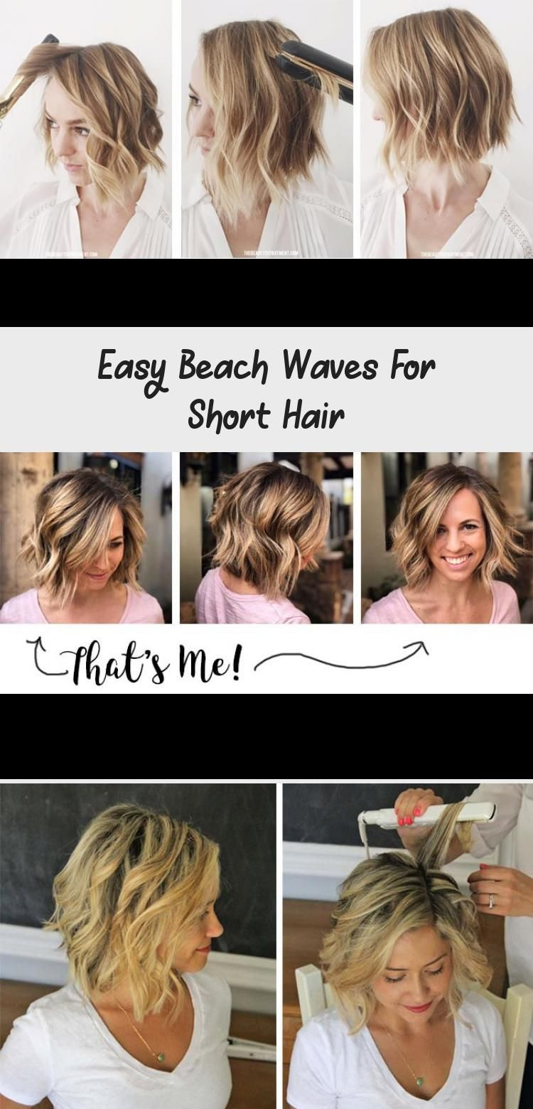 Easy Beach Waves For Short Hair Hairstyle Beach Waves For Short Hair Short Hair Waves Easy Beach Waves