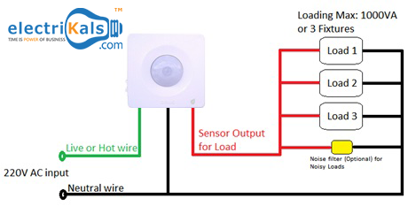 Motion Sensor Wiring Diagram Electrikals Sensor Motion Sensor Map