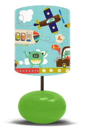 Alien invasion on green base lamp from oopsy daisy fine art for