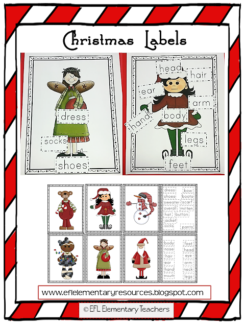 Christmas Activities for ESL Labeling activities