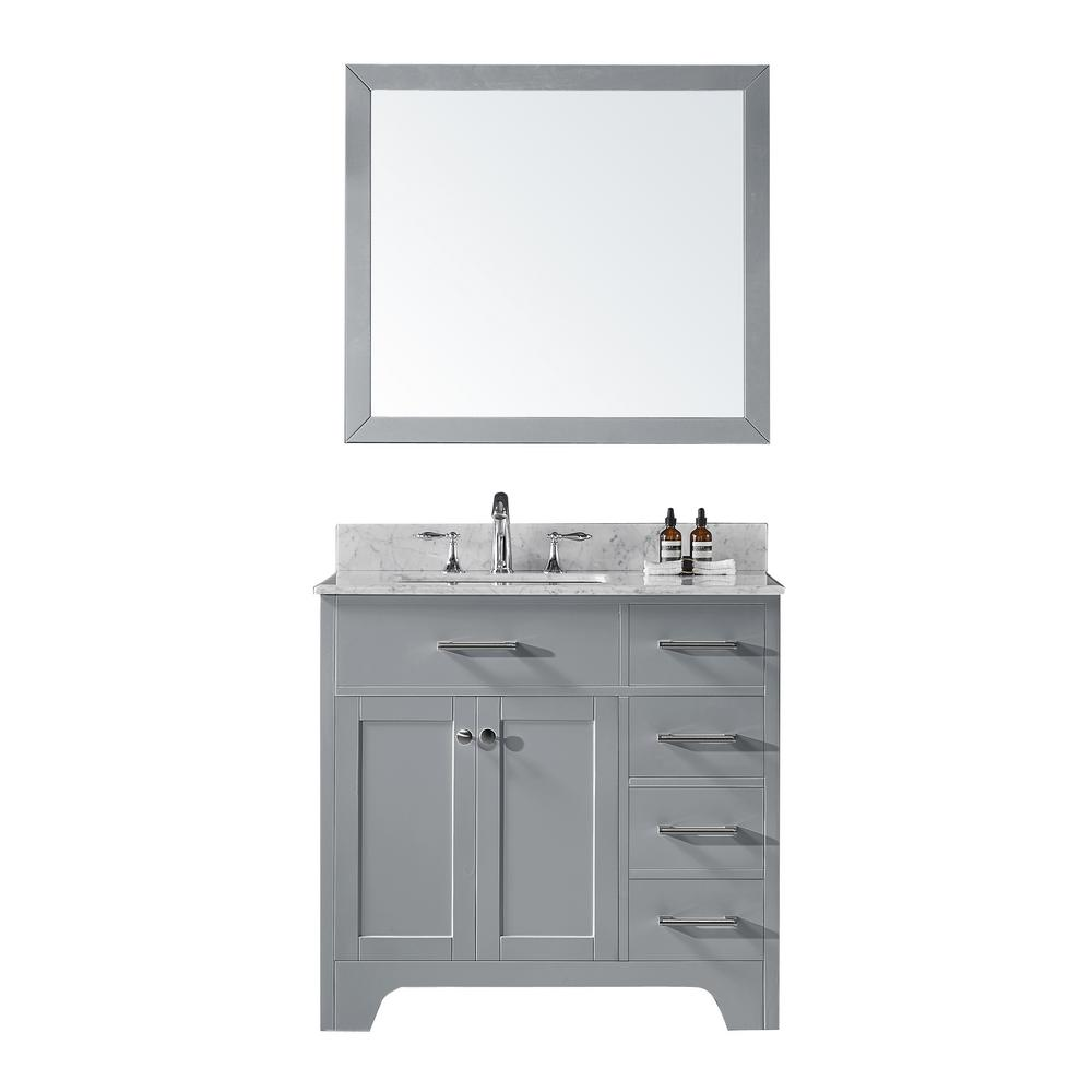 Exclusive Heritage 36 In D Single Sink Bathroom Vanity In Taupe