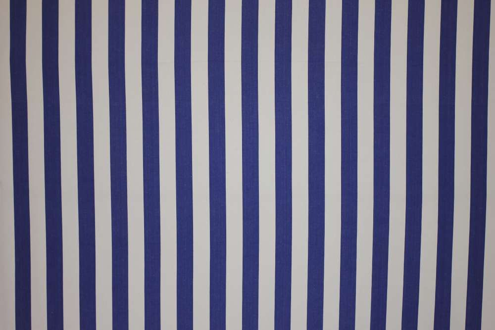 Classic Blue And White Striped Fabric From The Stripes Company Available By  The Metre 100%