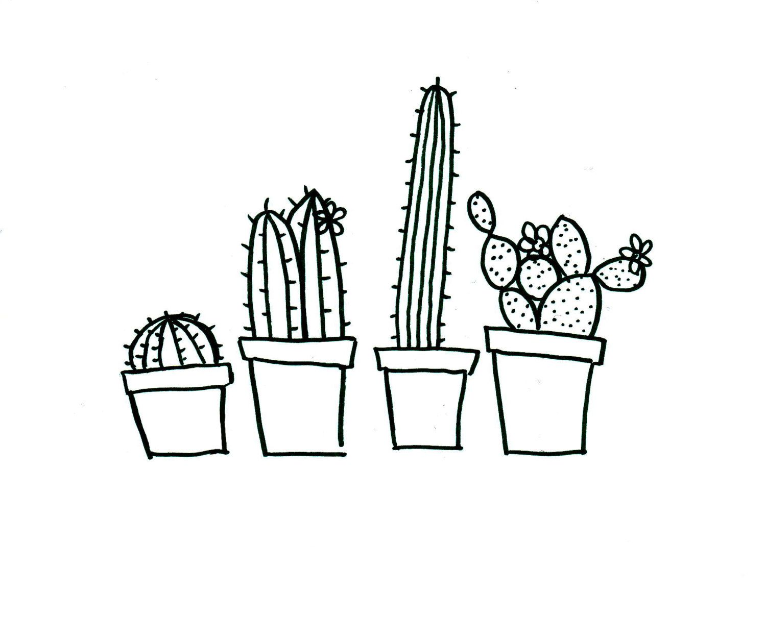 Quirky cactus hand embroidery pattern, PDF download | Art ...