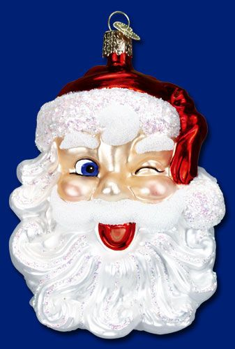40114 - Winking Santa, 4 ¾ Christmas Time Pinterest Ornament