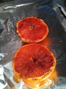 Broiled Grapefruit.....a less indulgent version :)