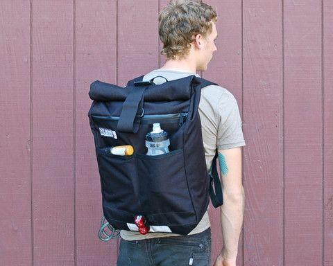 Road Runner Bags Medium Roll Top Backpack by Road Runner Bags | NYMB.co
