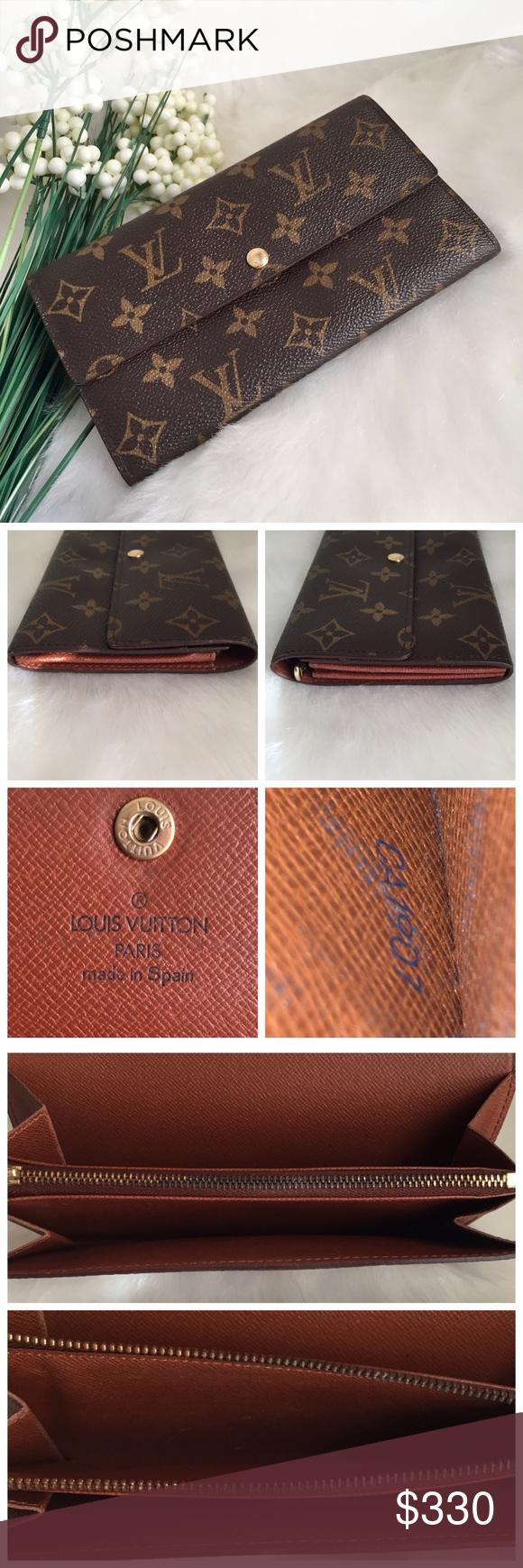 Louis Vuitton Porte Monnaie Long Bifold Wallet