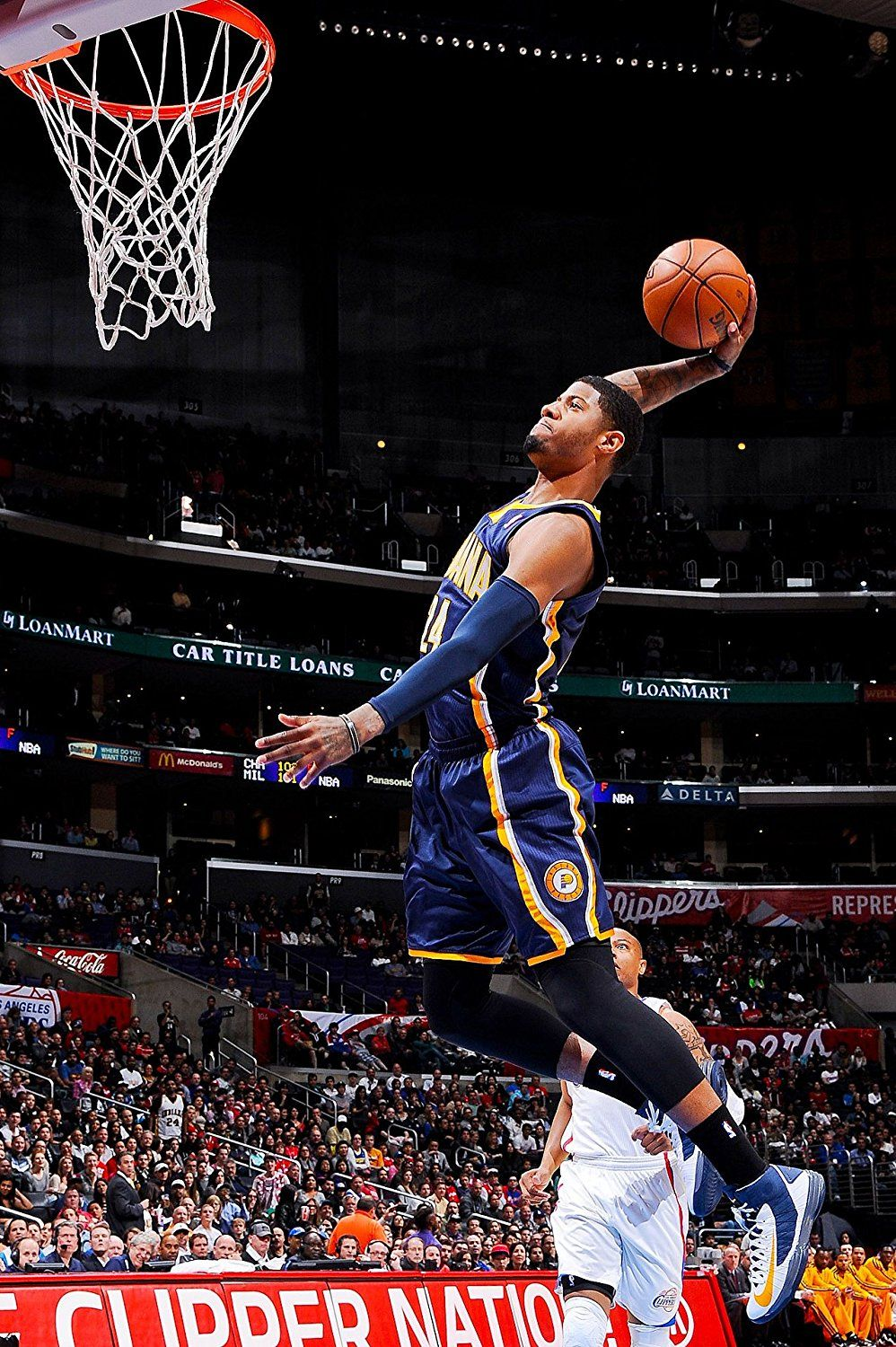 Paul George Slam Dunk Indiana Pacers Basketball Poster Art ...