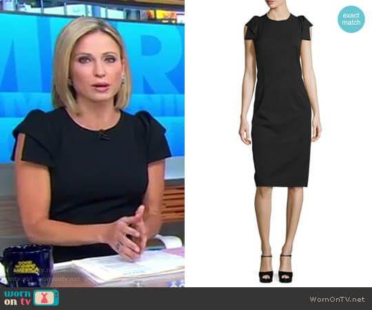Amy's Black Origami Sleeve Dress On Good Morning America