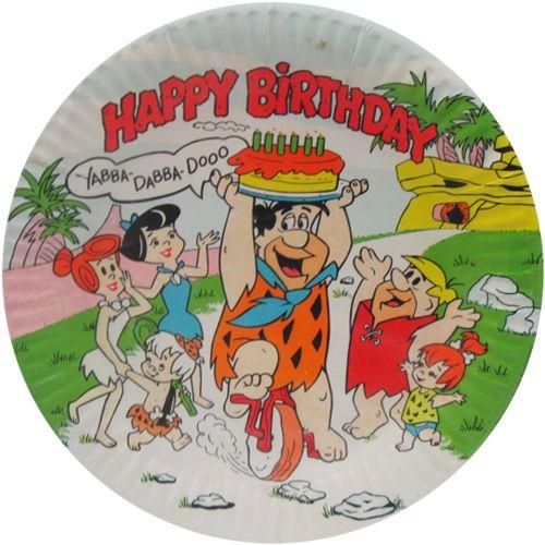Flintstones Vintage 'Yabba Dabba Doo!' Large Paper Plates