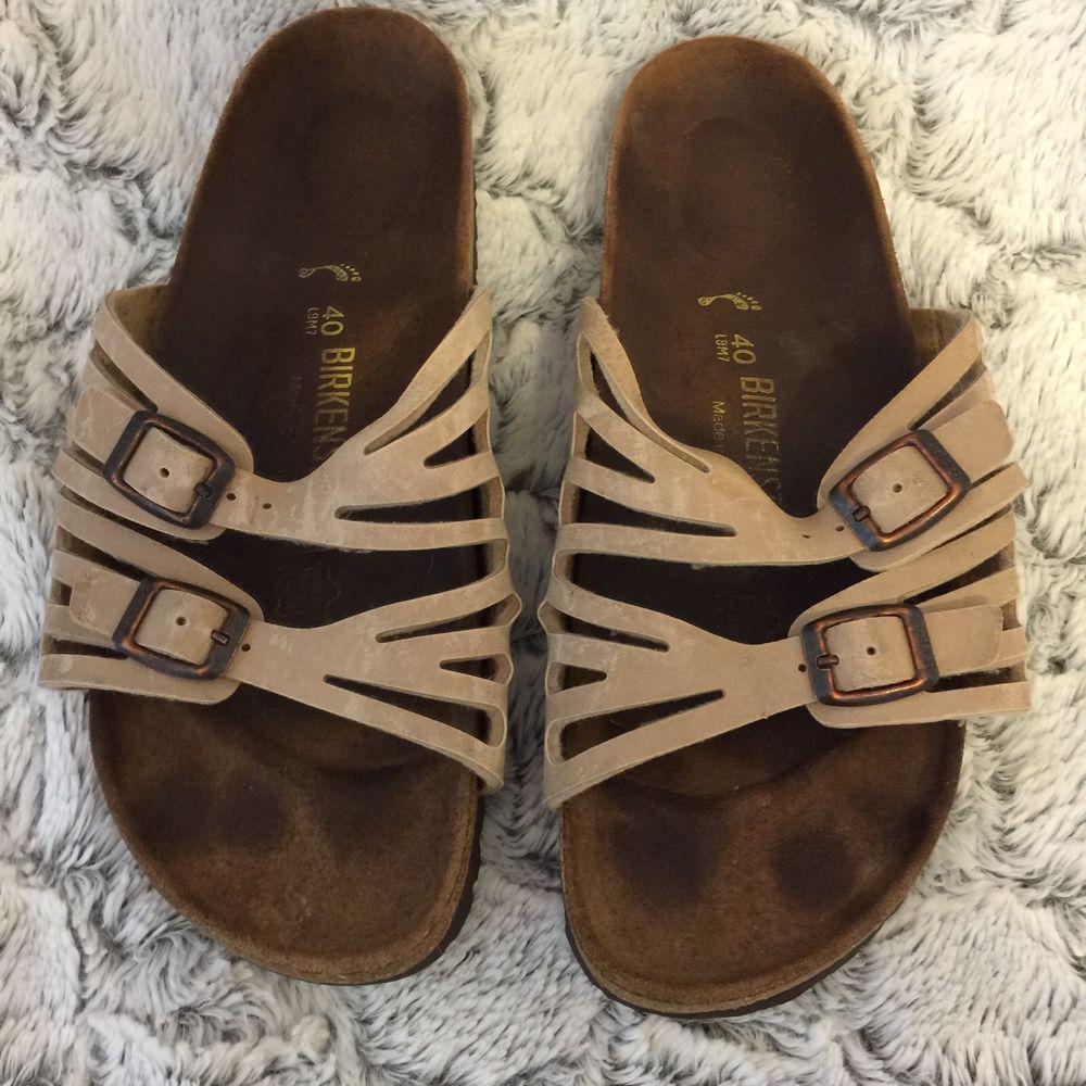 Birkenstock 40 Ladies Size 9 Mens Size 7 Tobacco Tan Granada Slide Sandal Birk #birkenstock #sandals