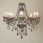Chandelier with gunmetal/grey toned drop crystals really pretty £260 BHS