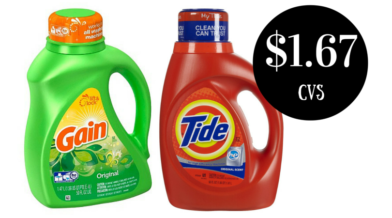 Wow Tide Or Gain Laundry Detergent Only 1 67 At Cvs Through