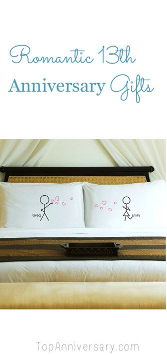 Romantic 13th Wedding Anniversary Gift Ideas Couple Pillowcase