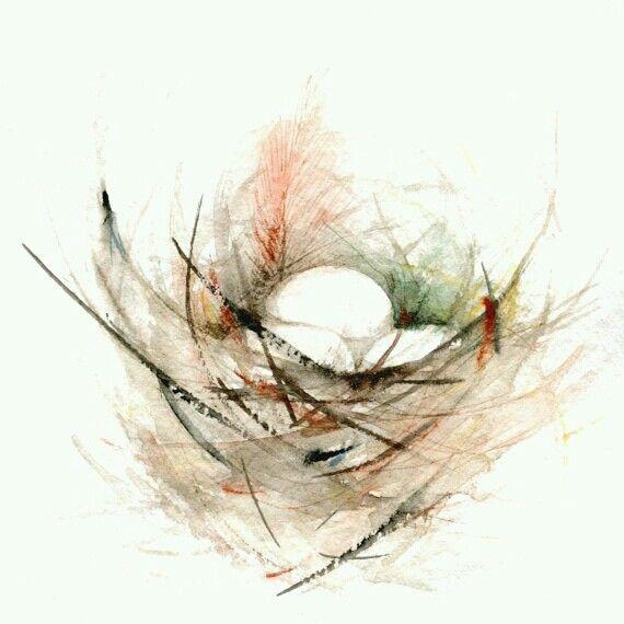 Birds Nest Bird Nest Painting Watercolor Bird Bird Art Print
