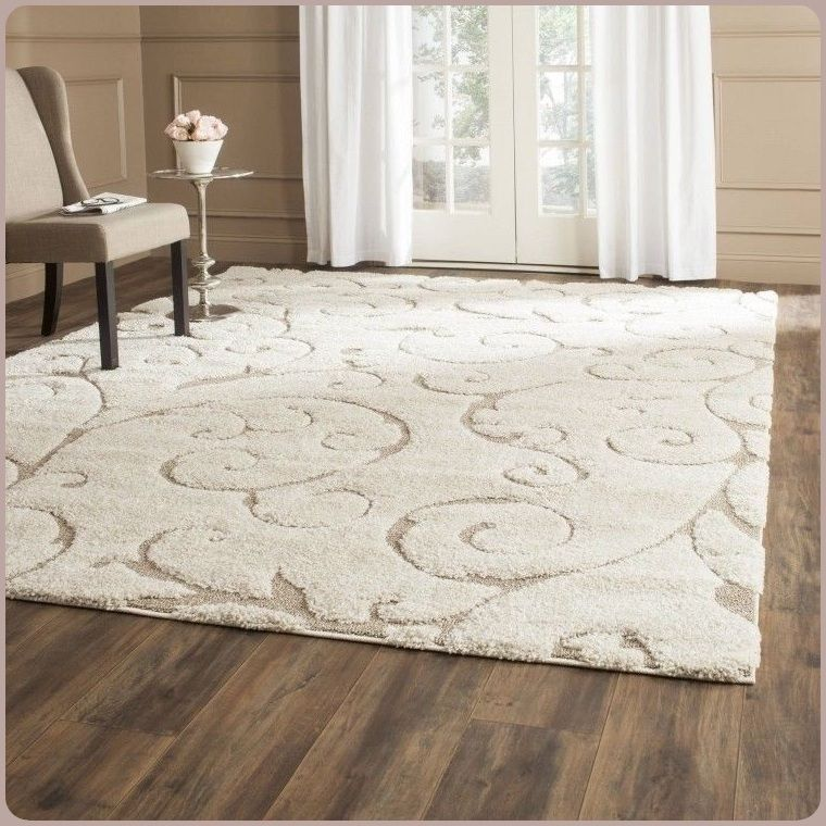 Classic Rectangle Pile Area Rug Durable Cotton Canvas Backing 53 X 76